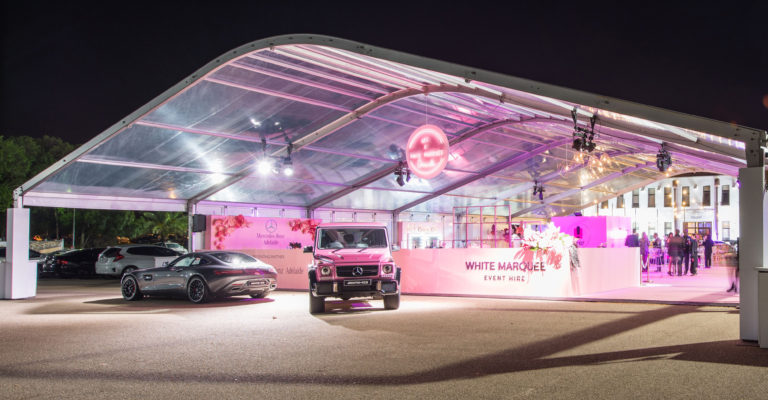 White Marquee Event Exhibition Party Hire In Adelaide
