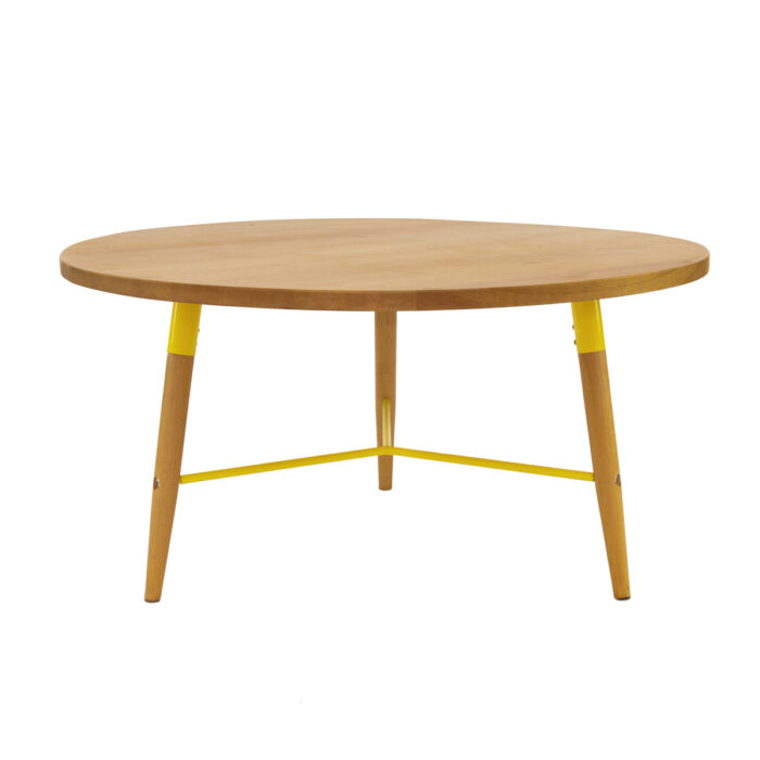 Yellow Marble Coffee Table: White Marquee