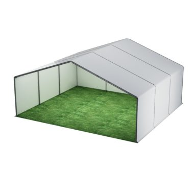 10m Wide White Stage Cover 10m x 9m