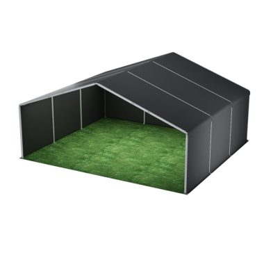 10m Wide Black Stage Cover 10m x 9m