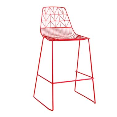 Arrow Bar Stool Stackable  Red