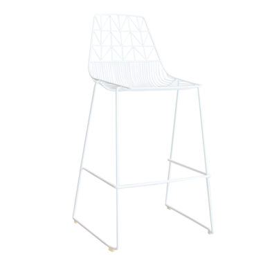 Arrow Bar Stool Stackable  White