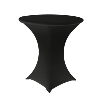 Lycra Cafe Table Cover Black