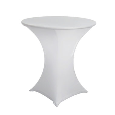 Lycra Cafe Table Cover White