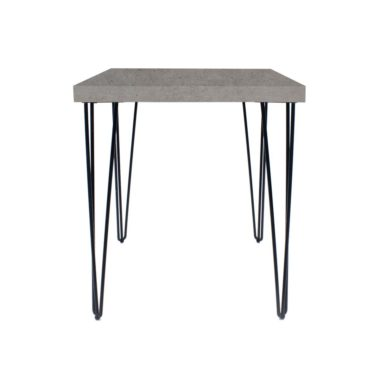 Hairpin Cafe Table Square Concrete Tops Black
