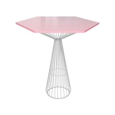 Hex Bar Table Cotton Candy/ White
