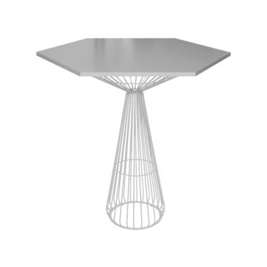 Hex Bar Table Grey/ White