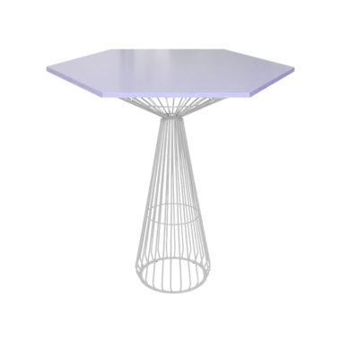 Hex Bar Table Lavender/ White