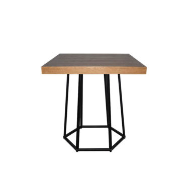 Hex Cafe Table Natural/Black