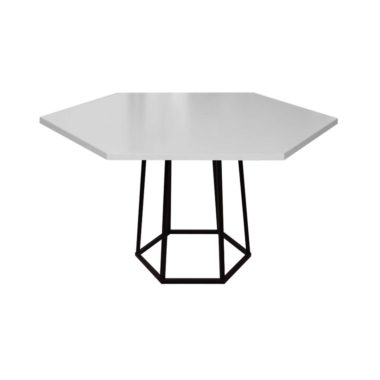 Hex Cafe Table Grey/ Black