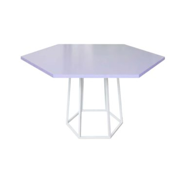 Hex Cafe Table Lavender/ White