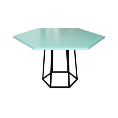 Hex Cafe Table Mint/ Black