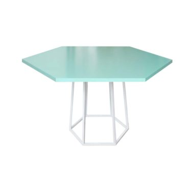 Hex Cafe Table Mint/ White