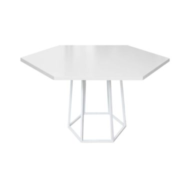 Hex Cafe Table White/ White