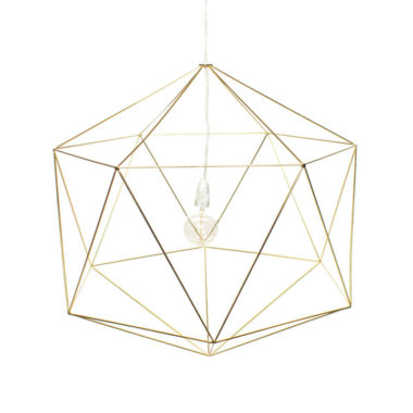 Hex Light Fitting Large Gold