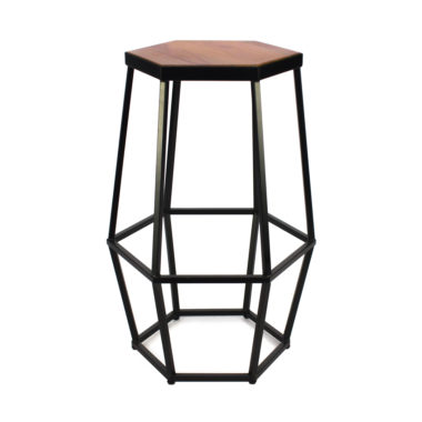 Hex Stool Black