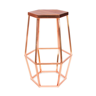 Hex Stool Copper