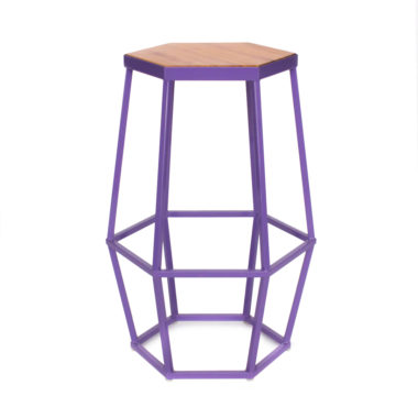 Hex Stool Purple