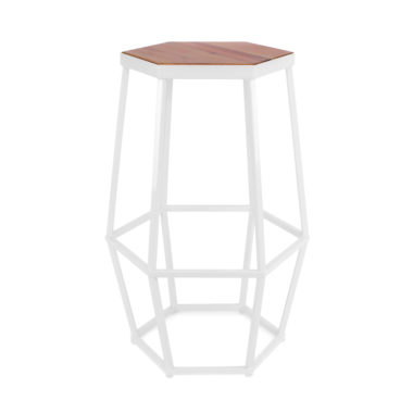 Hex Stool White