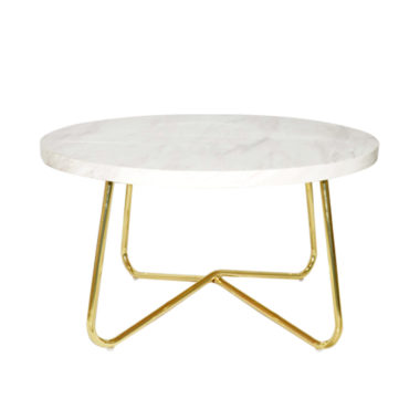 Marble Coffee Table White/ Gold