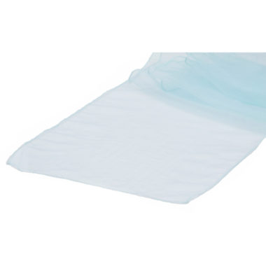 Organza Table Runner Pale Blue