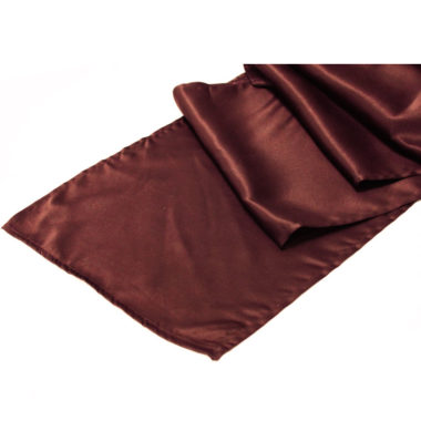 Satin Table Runner Chocolate Brown