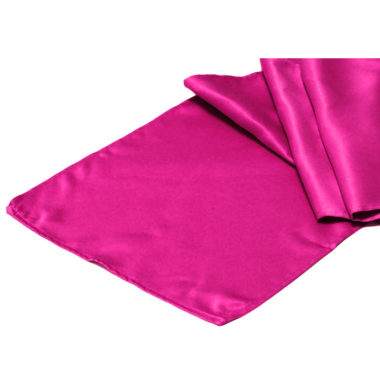 Satin Table Runner Hot Pink
