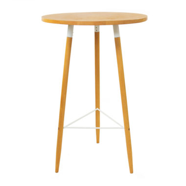 Scandi Bar Table White