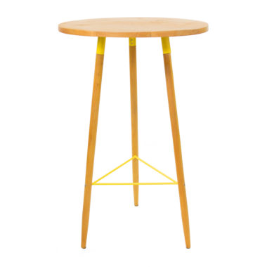 Scandi Bar Table Yellow