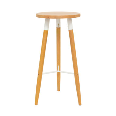 Scandi Stool White