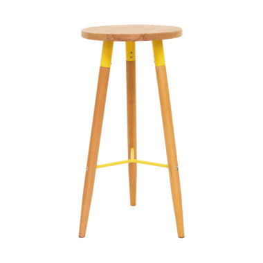 Scandi Stool Yellow