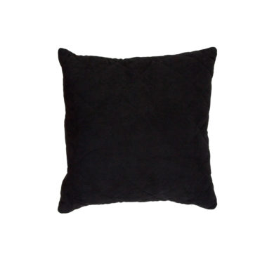 Throw Pillow Quilted Black