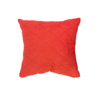 Throw Pillow Quilted Coral