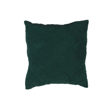 Throw Pillow Quilted Forrest Green