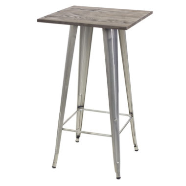 Tolix Bar Table Chrome