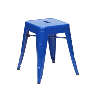 Tolix Low Stool Blue