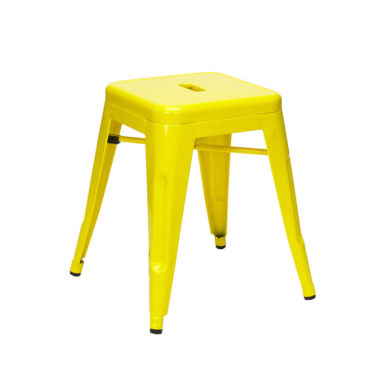 Tolix Low Stool Yellow