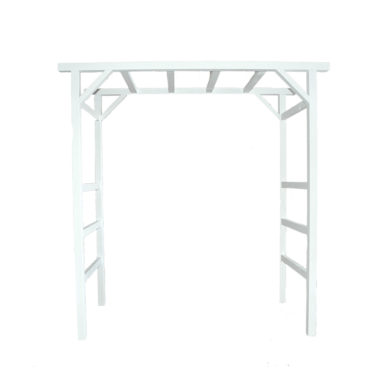 Wedding Arbour White Timber
